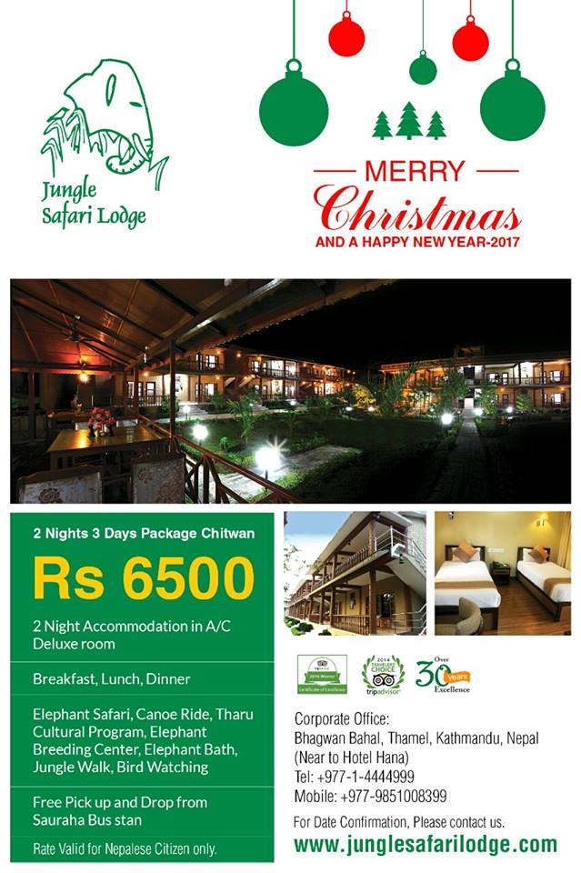 Christmas and New Year Offer Sauraha, Chitwan